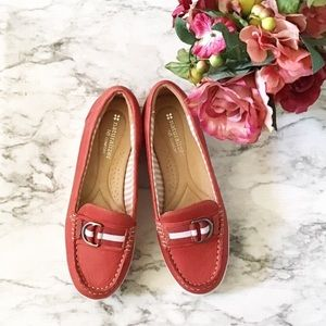 Naturalizer Japara Red Leather Boat Shoe